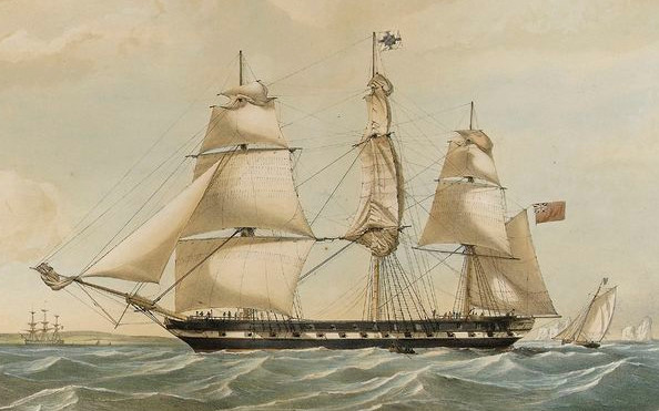 Blackwall frigate Seringapatam launched 1837