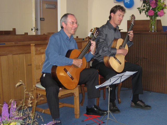 Bruce Paine and Derek Hasted during Hayling Island charity concert